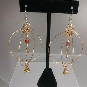 Jewelry - Amore Hearts / Grande Hoop Earrings, by Vekasy's